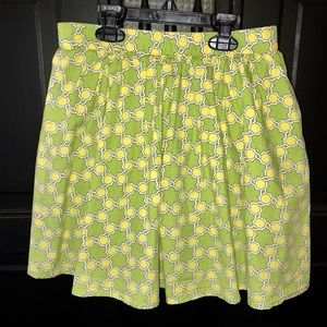 Land's End green/yellow print skirt with shorts